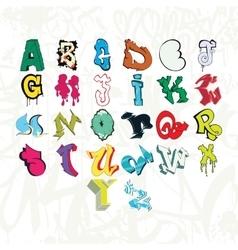Graffiti font and tag vector image