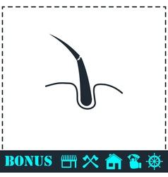 Hair bulb icon flat vector