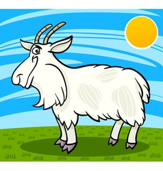 hairy goat farm animal cartoon vector image