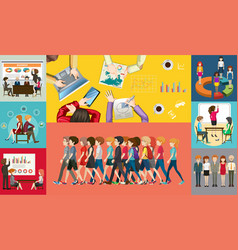 Infographic design for business people vector