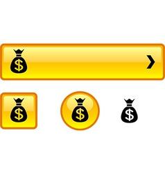 Money button set vector