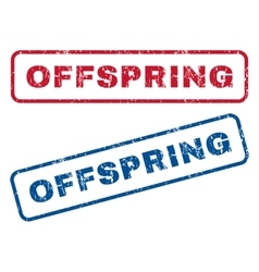 Offspring Rubber Stamps vector image vector image