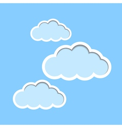 Paper clouds background vector