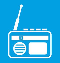 Radio icon white vector