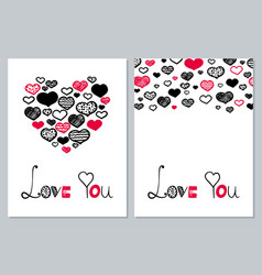 romantic heart vector image