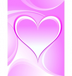 romantic heart vector image vector image
