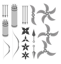 Rpg weapons - projectiles vector