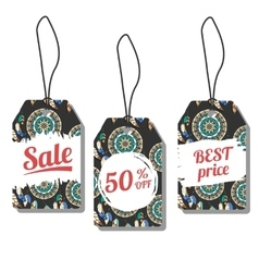 Sale tags with freehand ink vector