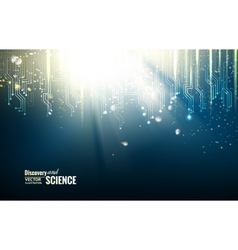 Science blue lights background vector image