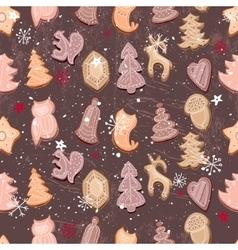 Seamless vintage dark brown pattern with vector