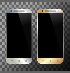 smartphone silver gold vector image