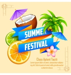 Summer Festival poster design vector image vector image