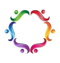 Teamwork business support logo vector image