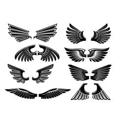 Tribal angel wings for heraldry or tattoo design vector image