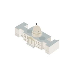 White house USA icon isometric 3d style vector image