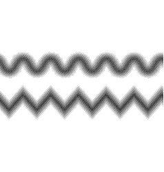 zigzag halftone effect vector image vector image