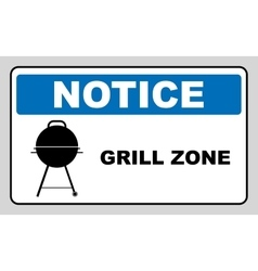 Sign with kettle barbecue and text grill vector