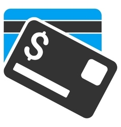 Bank Cards Flat Icon vector image