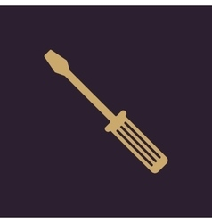 The screwdriver icon settings symbol flat vector