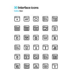 Interface icon vector