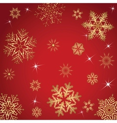 Red And Golden Christmas Pattern vector image