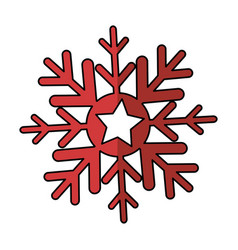 Christmas snowflake isolated icon vector