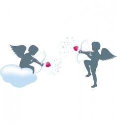 cupid set vector image