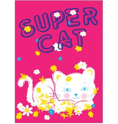 super cat vector image