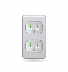 Female plug vector