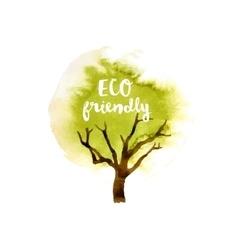 Eco friendly tree emblem vector image