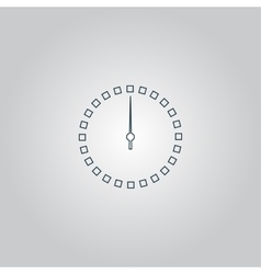 Scales screen circle icon vector