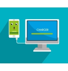 Mobile smartphone battery graphic vector