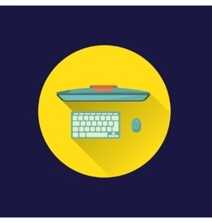Flat computer icon vector