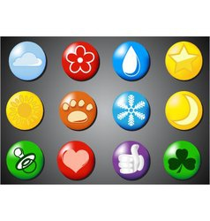 set of colored icons vector image
