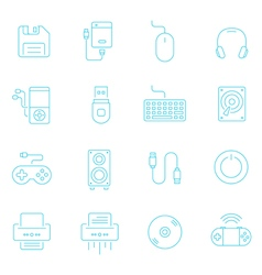 Thin lines icon set - devices accessory vector