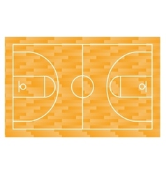 Basketball field court yard FIBA infographics vector image