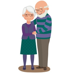 Elderly couple vector