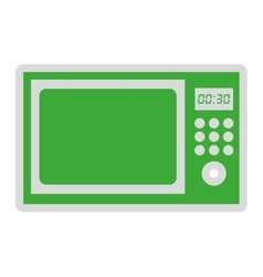 Microwave oven isolated icon design vector