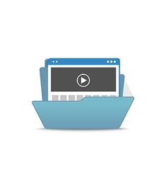 Computer interface folder open folder isola vector