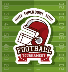 American football tournament vector