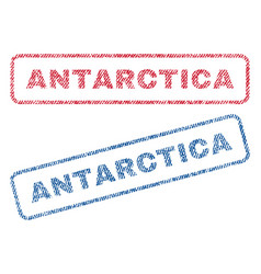 Antarctica textile stamps vector
