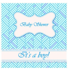 Baby-shower-abstract-background-boy-2 vector image