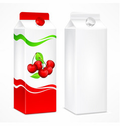 cherry juice package vector image vector image