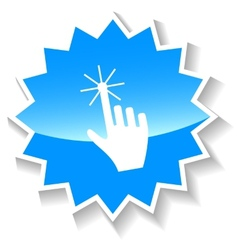 Click blue icon vector