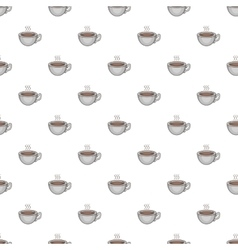 Cup of hot tea pattern cartoon style vector image vector image
