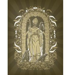 dark gothic vector image vector image