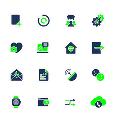 different icons for mobile apps sites programs vector image vector image