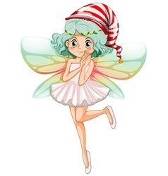 Fairy wearing party hat for Christmas vector image vector image