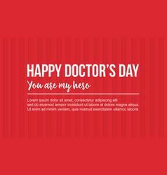 Happy doctor day celebration card style vector