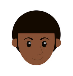 head face man male character vector image vector image